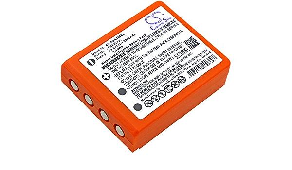 BATTERIE 2000mAh pour HBC Radiomatic BA211060,BA213020,BA214060