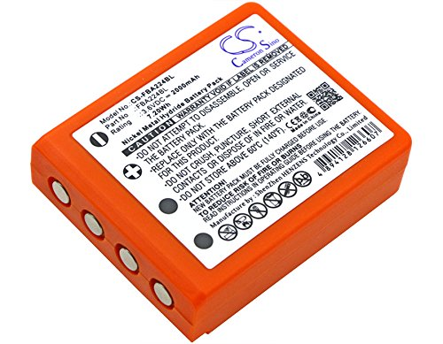 Cameron Sino Replacement Battery for HBC Radiomatic Keynote, Radiomatic Linus 4, Radiomatic Micron 4, Radiomatic Micron 5, Radiomatic Micron 6 (2000mAh)