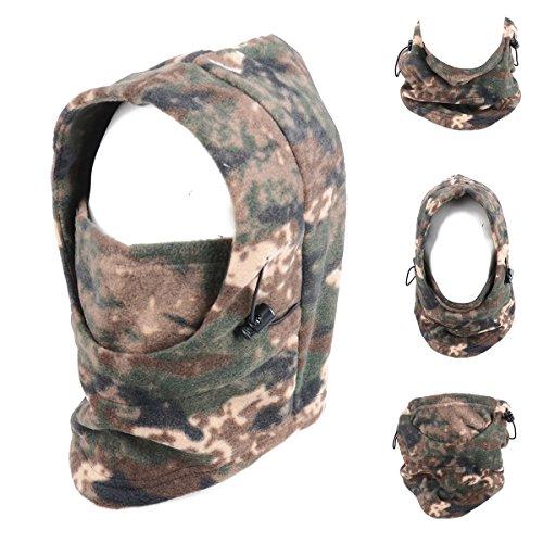 TRIWONDER Balaclava Hood Hat Thermal Fleece Face Mask Neck Warmer Full Face Cover Cap Winter Ski Mask (ACU-21-280g Fleeces) (Balaclava Polar Mask)