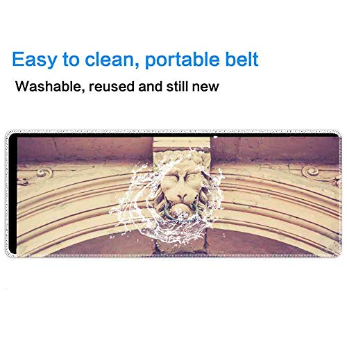 Mouse Pad Rectangle Mouse Pad Archway Lion Head Stone Historically Architecture #459296 Series 800mm300mm3mm