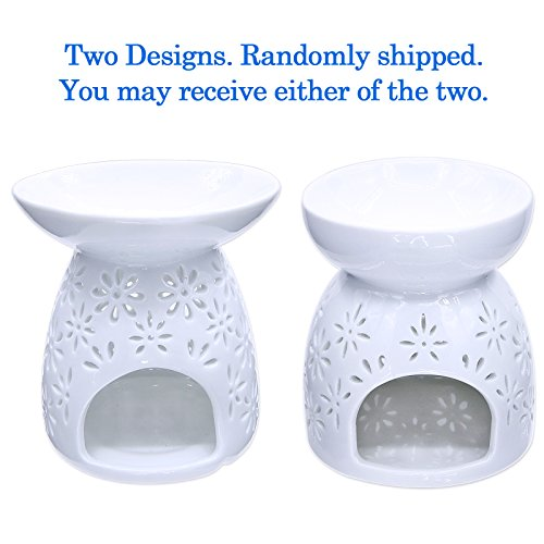 Ivenf Ceramic Tea Light Holder, Aromatherapy Essential Oil Burner, Great Decoration for Living Room, Balcony, Patio, Porch and Garden, Vase Shape - incensecentral.us