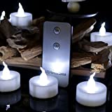 12PCS Mini Wedding Candles Tea Lights with Remote Control, Battery Operated White Flickering Led Candle Lights for Receptions, Wedding Centerpieces, Table Settings