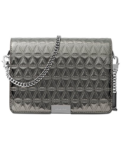 Michael Kors Jade Medium Gusset Clutch Handbag in Gunmetal