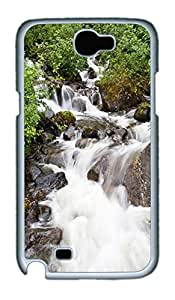 Samsung Note II Case Beautiful Waterfall PC Custom Samsung Note 2 Case Cover White