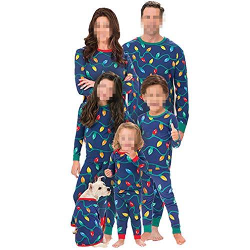 Verde Da Di Adulti Notte Natale Zhxinashu Genitore Indumenti Pigiama figlio Colletto bambini Famiglia Abbigliamento Capi Bambini H6nwnxf4q5