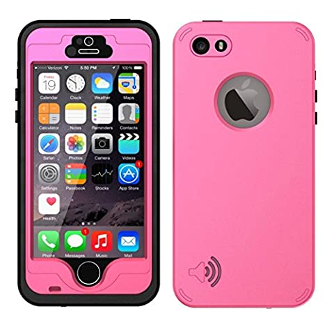 iPhone 5S / SE Best Waterproof Case, Waterproof Dust Proof Snow Proof Shock Proof Case with Touched Transparent Screen Protector, Heavy Duty Protective Carrying Cover Case for iPhone 5 5s (I Phone 5s Case In Pink)