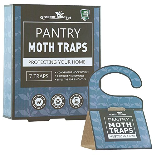 Pantry Moth Traps 7-pack with Premium Pheromone Attractant | Most Effective Trap Available | Non-Toxic Safe No Insecticides | Greener Mindset