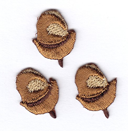 ACORN PATCH (3 PIECES) - Iron On Embroidered Applique Patch/Trees, Squirrels