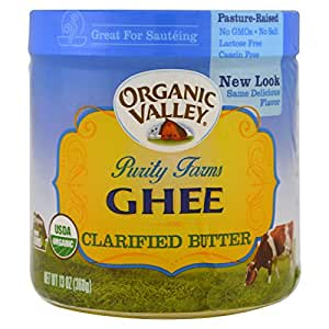 ORGANIC VALLEY Certified Ghee Clarified Butter 13oz
