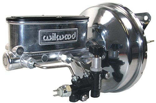 NEW CHROME POWER BRAKE BOOSTER & POLISHED WILWOOD MASTER CYLINDER SET WITH ADJUSTABLE PROPORTIONING VALVE FOR 1967, 1968, 1969, 1970 FORD MUSTANG, FAIRLANE, FALCON, MERCURY COMET, COUGAR, CYCLONE, ()
