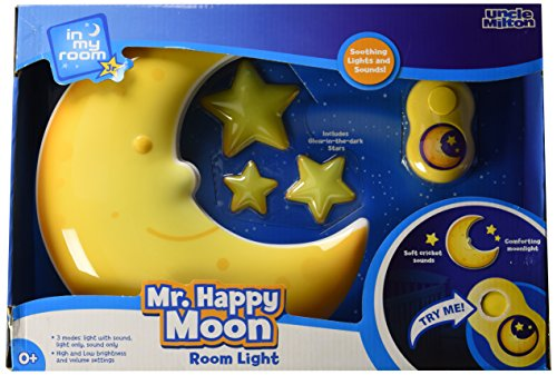 In My Room Jr. Mr. Happy Moon Toddler Room Décor Night Light