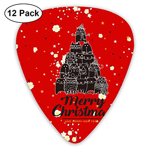 Black Cats Kitty Angel Christmas Tree Exquisite Shell Surface Guitar Pick-12 Pieces of Packaging General Purpose -