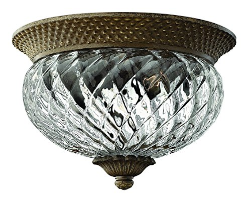 Light Pearl Four Plantation Bronze (Hinkley 4102PZ Traditional Two Light Flush Mount from Plantation collection in Bronze/Darkfinish,)