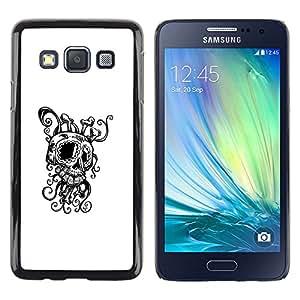 Caucho caso de Shell duro de la cubierta de accesorios de protección BY RAYDREAMMM - Samsung Galaxy A3 - Octopus Squid Skull