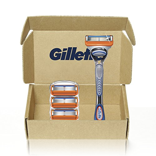 Gillette Fusion5 Men's Razor Handle + 4 Blade Refills
