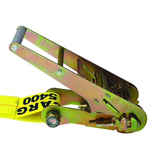3'' X 30' Ratchet Strap with Flat Hooks (15,000 lbs. Break Strength) by US Cargo Control (Image #1)