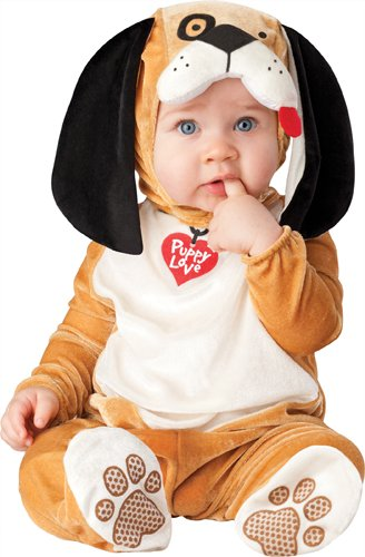 Baby Toddler Costumes Halloween (InCharacter Costumes Baby's Puppy Love Costume, Tan/White/Black, Large)