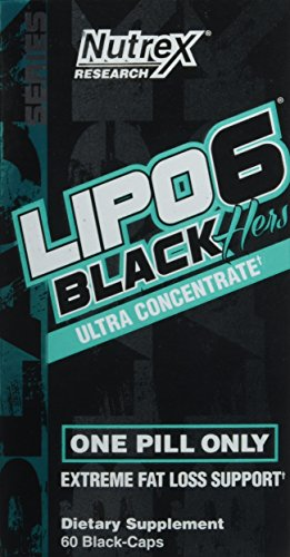 Nutrex Research Lipo 6 Black Hers Ultra Concentrate | Fat Burner Pills for Women | Hair, Skin, Nails Support | 60Count