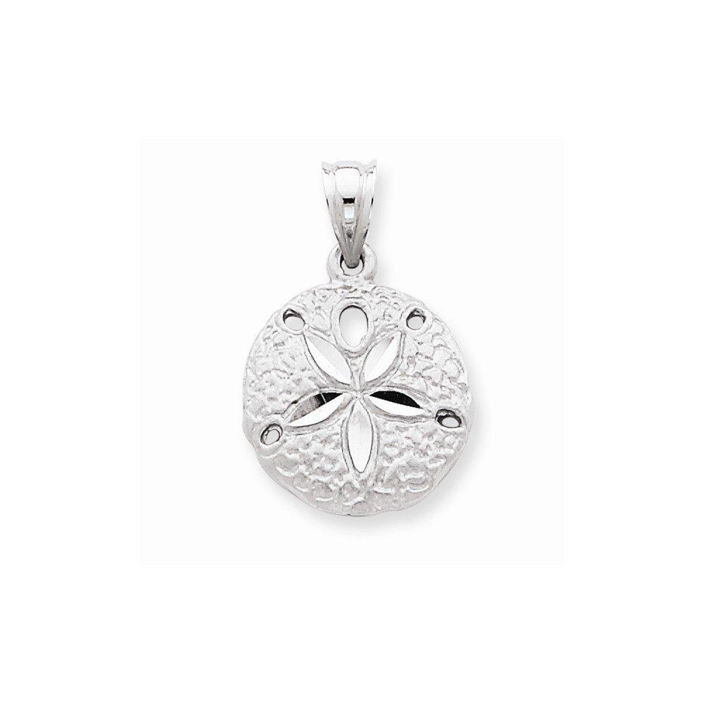 14k White Gold Sanddollar Charm by Nina's Jewelry Box