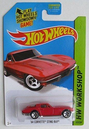 2014 Hot Wheels Hw Workshop - '64 Corvette Sting Ray - Red (Red Stingray)