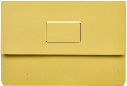 Marbig Slimpick Foolscap Document Wallet (Yellow)