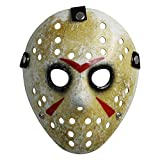 Costume Mask Prop Horror Hockey Halloween Myers (Adult (One Size), Black Eyes)