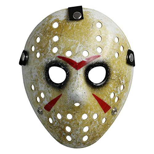 Costume Mask Prop Horror Hockey Halloween Myers (Adult (One Size), Black Eyes)]()