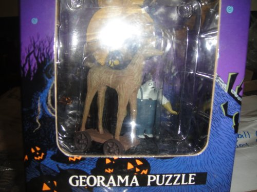 Nightmare Before Christmas Georama Puzzle Figurine Halloween Town Parade; 2 Behemoth with the straw horse N-076