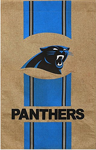 Team Sports America NFL Carolina Panthers Burlap Garden Flag, 12.5