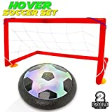 air ball toy - Kids Toys Hover Balls Soccer Goals Set With 2 Gates Nets Air Ball LED Light Football Toy For Boys/Girls Age of 2,3,4,5,6,7,8-16 Years Old,Children Gifts Play Indoor Or Outdoor Sport Game