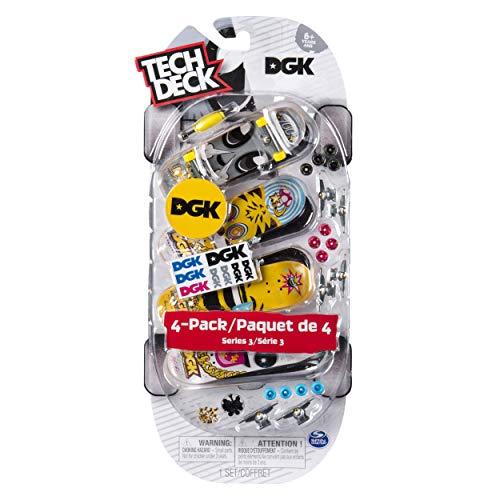 (Tech Deck - Fingerboards 4-Pack Series 3 - DGK Skateboards)