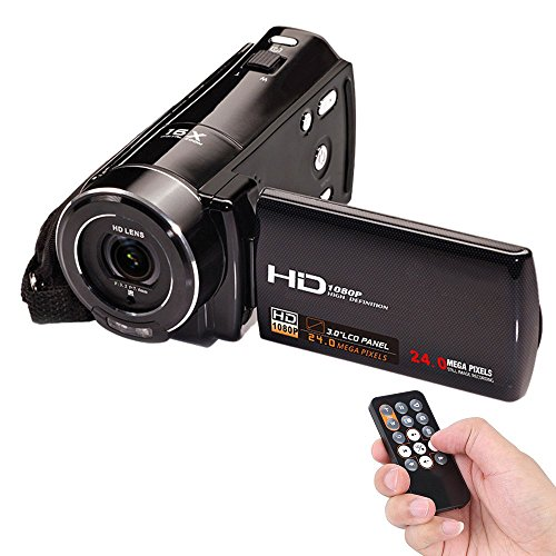 Video Camcorder, FociPow HDV-V7 Portable 24 MP 1080P HD Camera DV with 3.0″ Rotatable LCD Screen Mini Camcorder