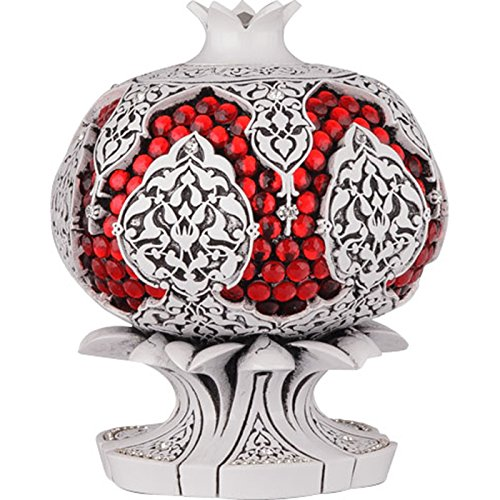 Islamic Home Table Decor Pomegranate Design -White by Interway Trading
