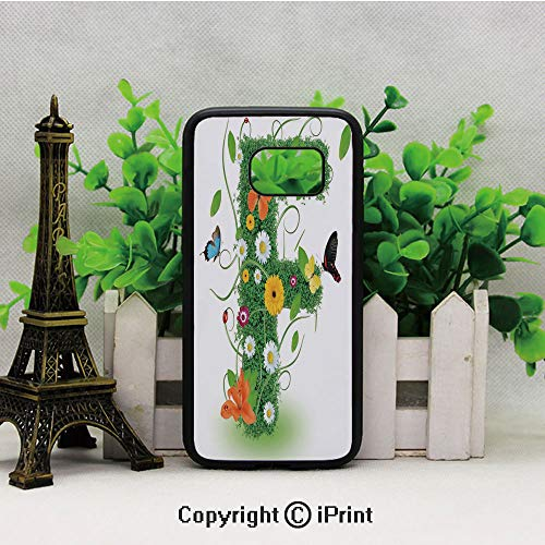 Natural Inspirations with Animals and Flowers Butterflies Daisies Pattern Decorative Samsung S7 Case for Girls Women Hard Back Shock Drop Proof Impact Resist Protective Case for Samsung S7 Green Multi ()