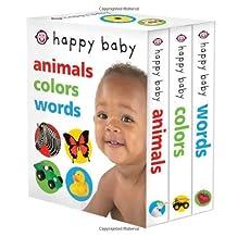 Happy Baby Slipcase: Animals, Colors, Words