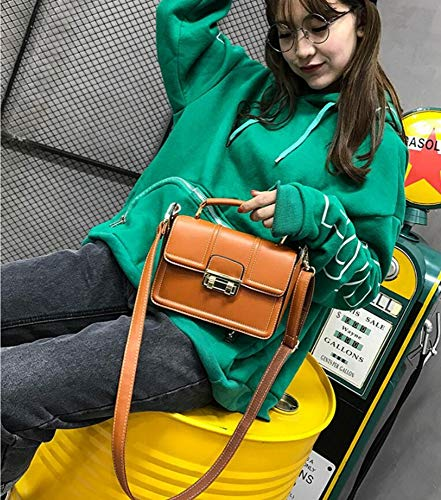 Female Small Bag Simple Hongge Fashion Bag Lady Bag Square Mini Oblique D PU Single Shoulder vOwqxO7EnA