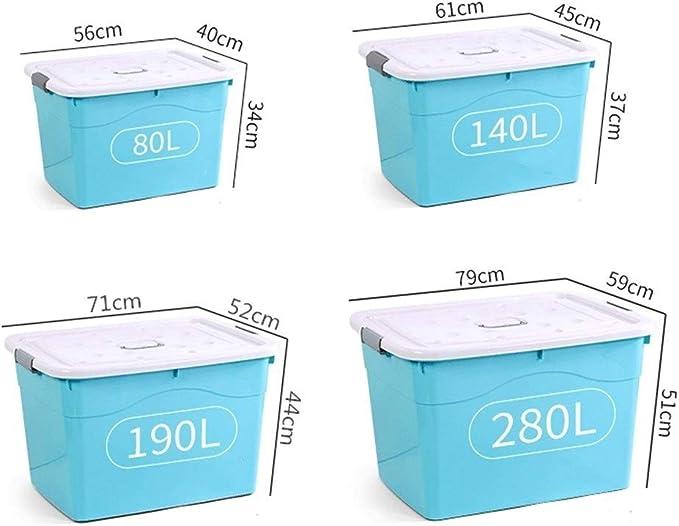 D-YYBB Caja de Almacenamiento, Caja de plástico de 150 litros de Almacenamiento, Embalaje estándar, Robusta y Ligera, apilable, Perfecto for Las escuelas y Juguetes for niños,Caja de Almacenamiento d: Amazon.es: Hogar