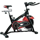 Fitness House PowerPro Bicicleta estática de Ciclismo, Unisex Adulto, Negro/Rojo, Talla Única