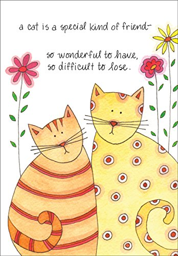 Pet Loss Sympathy Greeting Card Cat (1) Single Card w/Env Made in USA