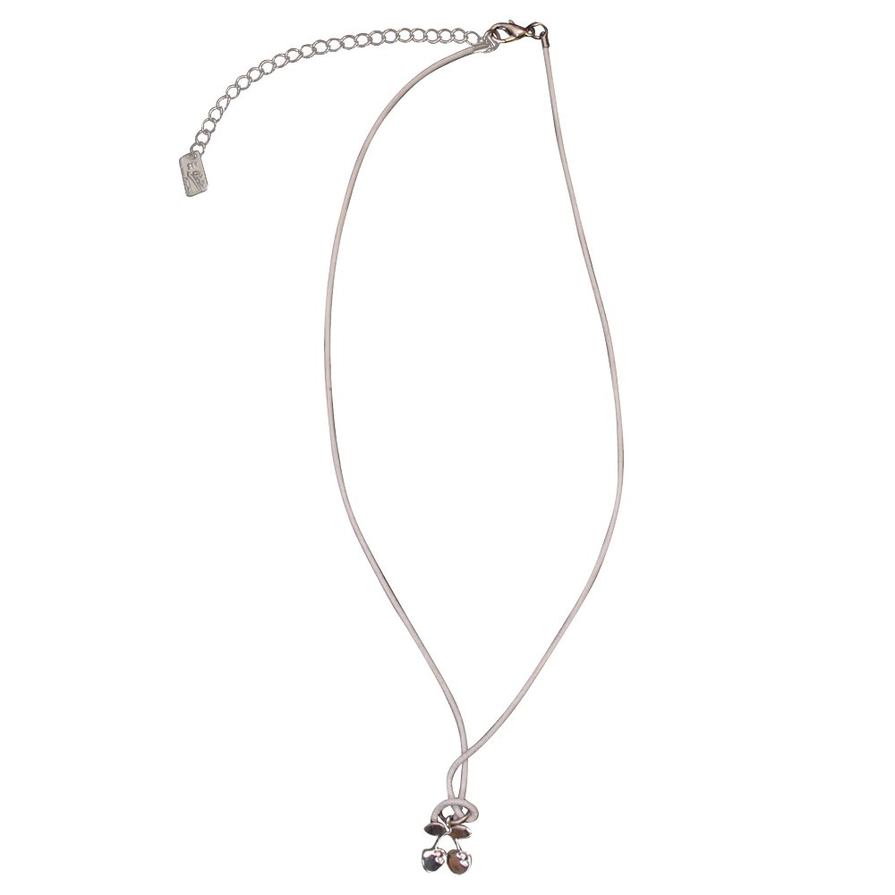 Pacha Small Cherry White Surfer Necklace - White, One Size