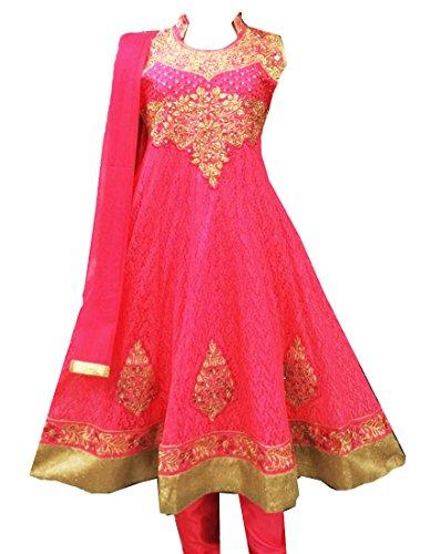 hot pink anarkali dress - 1
