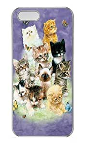 10 Kittens PC For SamSung Galaxy S4 Case Cover Transparent