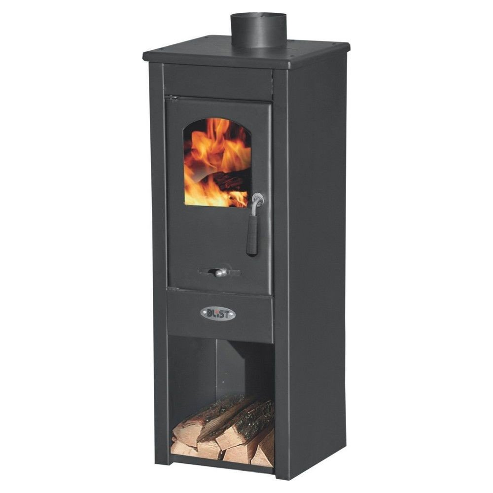 Ekonomik Lux LM – 7 kW Wood Burning Stove in Steel, Colour Anthracite. for Heating of The Rooms of The House