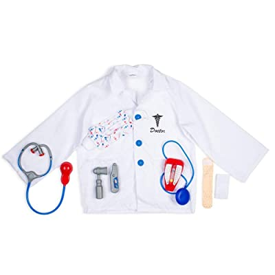 Dress Up America Kids Doctor Role Play Dress Up Set 3-7 Years: Clothing [5Bkhe0807368]