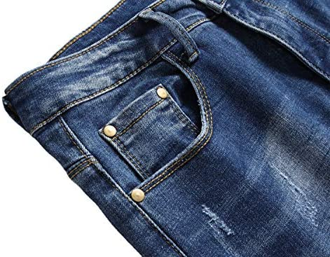 5157z%2BM0AmL. AC AITITIA Men's Biker Zipper Deco Washed Straight Fit Jeans    Product Description