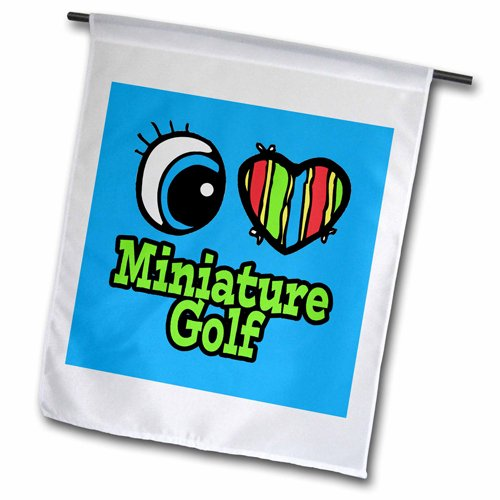 3dRose fl_106292_1 Bright Eye Heart I Love Miniature Golf...
