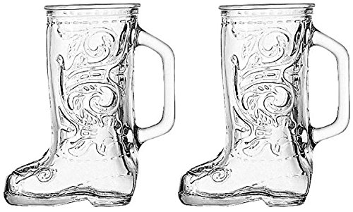 Anchor Hocking Glass Cowboy Boot Mug (2)
