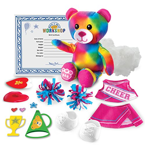 Build A Bear 20074842 Workshop - Furry Fashions - Cheer Bear Stuff Your Furry Friend, Multi