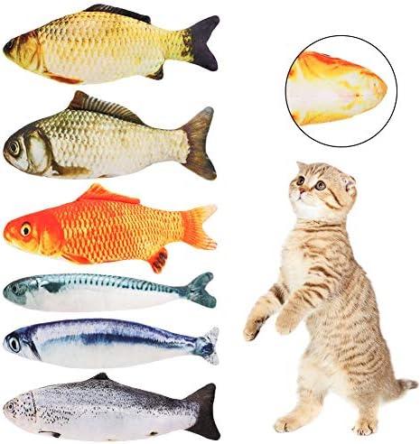 hi桜の花 猫おもちゃ 丈夫 猫遊び ぬいぐるみ お魚 またたび 噛むおもちゃ 運動不足 ストレス解消 おもちゃ 魚おもちゃ 6点セット(6点セット)