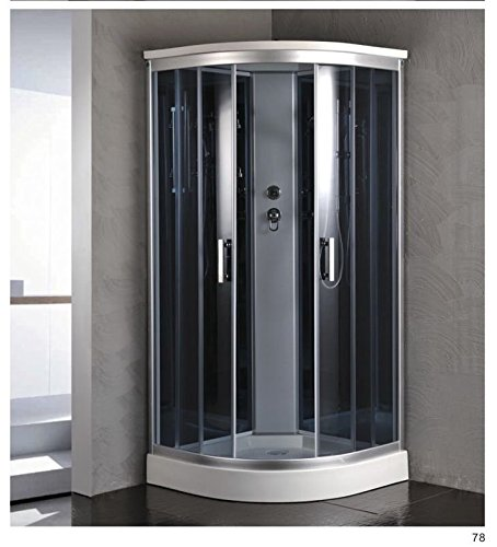 "Luxury Kokss 9918 Shower enclosure 36"" x 36"" Multi function hand shower and overhead rain. Modern shower enclosure with futuristic look, Computer control panel, home bathroom design by bath masters (Image #6)"